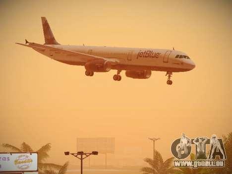 Airbus A321-232 jetBlue La vie en Blue pour GTA San Andreas vue de côté