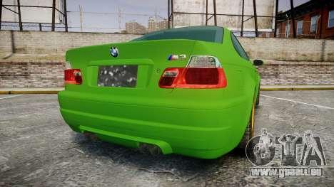 BMW M3 E46 2001 Tuned Wheel Gold für GTA 4 hinten links Ansicht