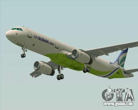 Airbus A321-200 Air Busan pour GTA San Andreas vue arrière