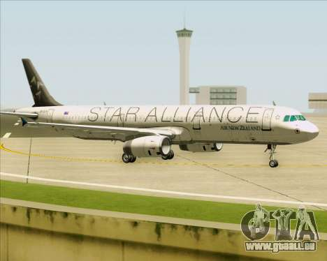 Airbus A321-200 Air New Zealand (Star Alliance) für GTA San Andreas linke Ansicht