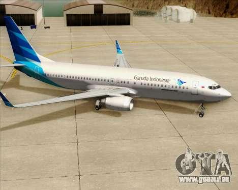 Boeing 737-800 Garuda Indonesia für GTA San Andreas Räder