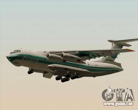 IL-76TD ALROSA für GTA San Andreas zurück linke Ansicht