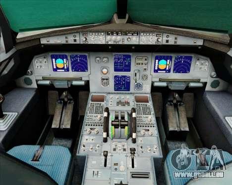Airbus A321-200 Air New Zealand (Star Alliance) für GTA San Andreas Innen