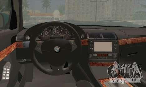 BMW 7-series für GTA San Andreas zurück linke Ansicht