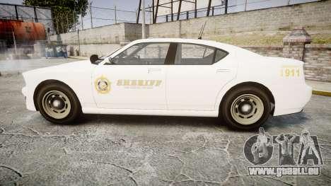 GTA V Bravado Buffalo LS Sheriff White [ELS] Sli für GTA 4 linke Ansicht