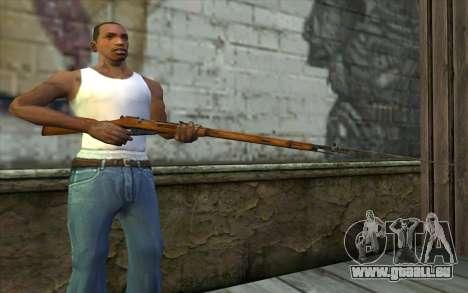 Mosin-v13 pour GTA San Andreas troisième écran