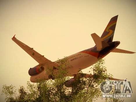 Airbus A319-132 Spirit Airlines pour GTA San Andreas vue arrière