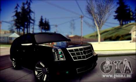 Cadillac Escalade Ninja für GTA San Andreas Innen