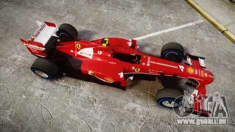 Ferrari F138 v2.0 [RIV] Massa TFW für GTA 4 rechte Ansicht