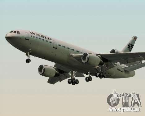 McDonnell Douglas DC-10-30 World Airways für GTA San Andreas rechten Ansicht