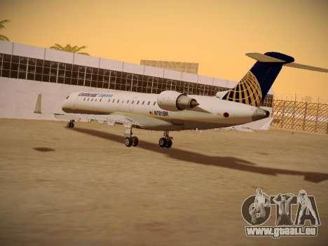Bombardier CRJ-700 Continental Express pour GTA San Andreas vue intérieure