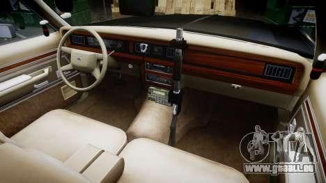 Ford LTD Crown Victoria 1987 Police CHP2 [ELS] pour GTA 4 Vue arrière