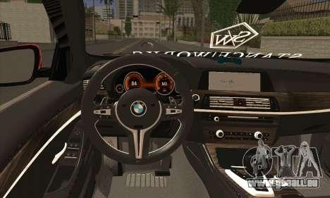 BMW 535i F10 Stance Works pour GTA San Andreas sur la vue arrière gauche
