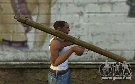 M1 Bazooka à partir du Jour de la Défaite pour GTA San Andreas troisième écran