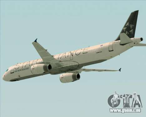 Airbus A321-200 Air New Zealand (Star Alliance) für GTA San Andreas obere Ansicht