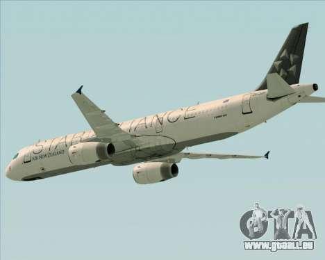Airbus A321-200 Air New Zealand (Star Alliance) pour GTA San Andreas vue de dessus
