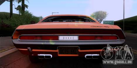 Dodge Challenger 426 Hemi (JS23) 1970 (ImVehFt) pour GTA San Andreas vue intérieure