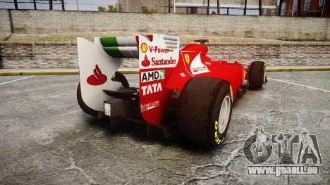 Ferrari 150 Italia Massa für GTA 4 hinten links Ansicht