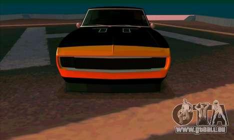 Chevrolet Camaro SS 1967 (Bumblebee) pour GTA San Andreas laissé vue