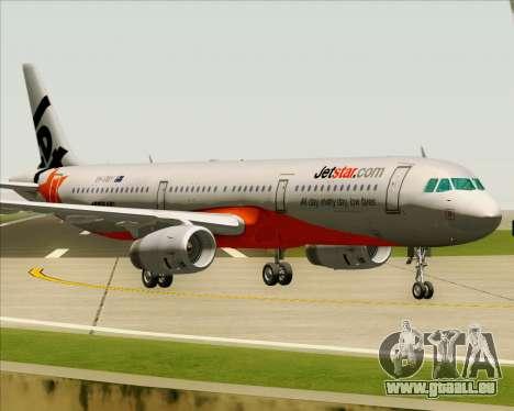 Airbus A321-200 Jetstar Airways für GTA San Andreas linke Ansicht