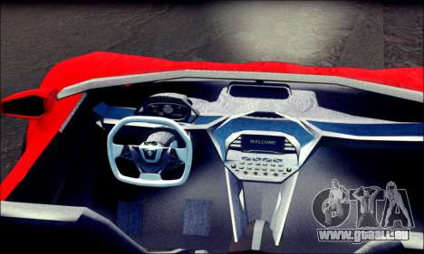 Specter Roadster 2013 (SA Plate) pour GTA San Andreas sur la vue arrière gauche