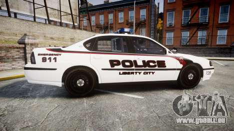 Chevrolet Impala 2003 Liberty City Police [ELS] für GTA 4 linke Ansicht