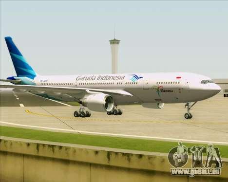 Airbus A330-243 Garuda Indonesia für GTA San Andreas Rückansicht