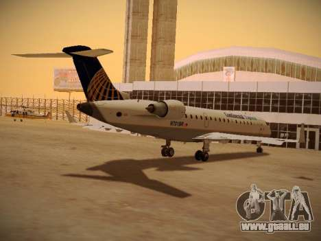Bombardier CRJ-700 Continental Express pour GTA San Andreas vue de côté