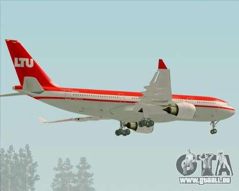 Airbus A330-200 LTU International pour GTA San Andreas vue arrière