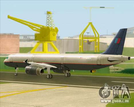 Airbus A321-200 United Airlines pour GTA San Andreas vue arrière