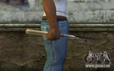 Allemand pelle pour GTA San Andreas troisième écran