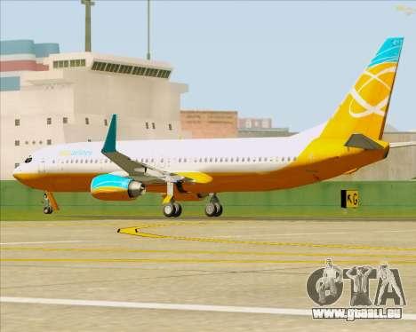 Boeing 737-800 Orbit Airlines pour GTA San Andreas vue de dessus