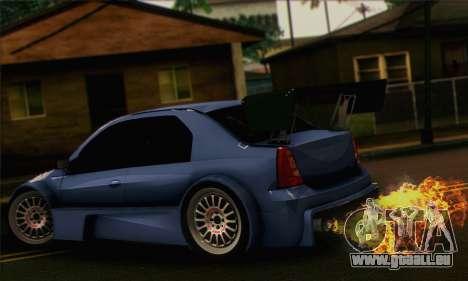 Dacia Logan Trophy Edition 2005 pour GTA San Andreas laissé vue