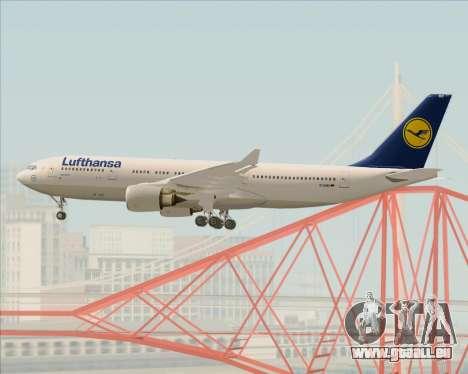 Airbus A330-200 Lufthansa pour GTA San Andreas vue de dessous