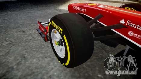 Ferrari F138 v2.0 [RIV] Alonso TSD für GTA 4 Rückansicht