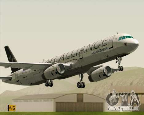 Airbus A321-200 Air New Zealand (Star Alliance) für GTA San Andreas