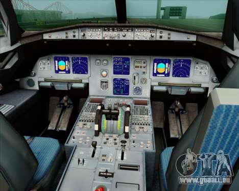 Airbus A321-200 Jetstar Airways für GTA San Andreas Innen