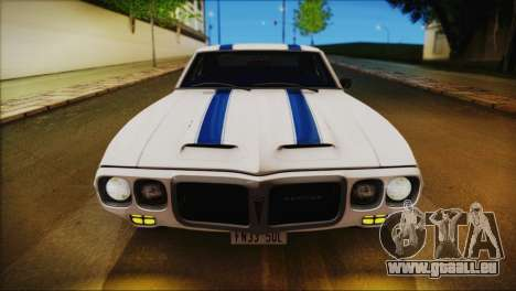Pontiac Firebird Trans Am Coupe (2337) 1969 für GTA San Andreas Motor