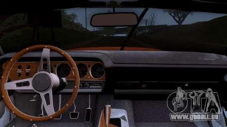 Dodge Challenger 426 Hemi (JS23) 1970 (ImVehFt) pour GTA San Andreas vue de droite