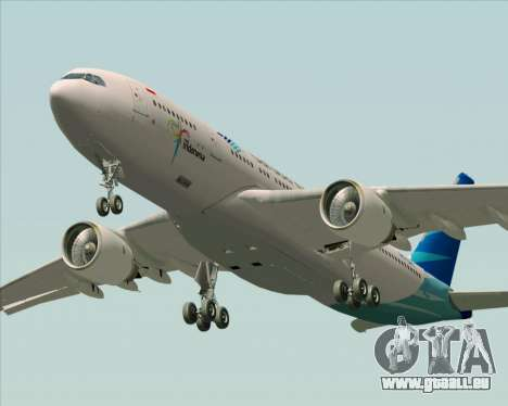 Airbus A330-243 Garuda Indonesia für GTA San Andreas obere Ansicht