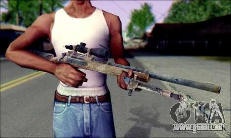 M24Jar fusil de Sniper de SGW2 pour GTA San Andreas troisième écran