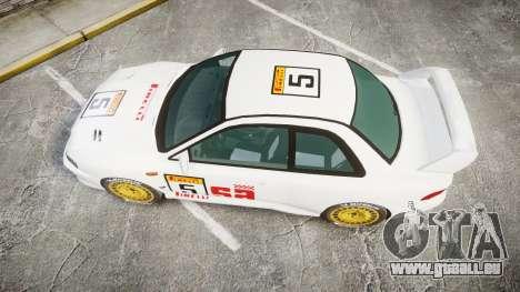 Subaru Impreza WRC 1998 SA Competio pour GTA 4 est un droit