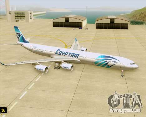 Airbus A340-600 EgyptAir pour GTA San Andreas vue de dessous