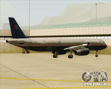 Airbus A321-200 United Airlines pour GTA San Andreas roue