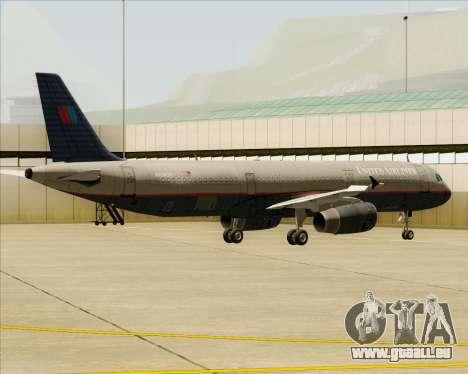 Airbus A321-200 United Airlines für GTA San Andreas Räder