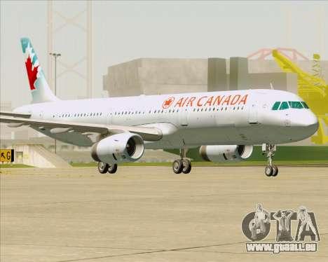 Airbus A321-200 Air Canada für GTA San Andreas Unteransicht