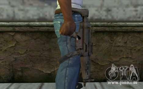 MP5 from FarCry 3 pour GTA San Andreas troisième écran
