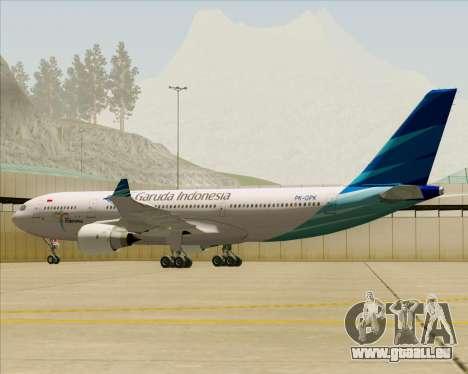Airbus A330-243 Garuda Indonesia für GTA San Andreas Räder
