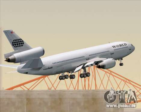 McDonnell Douglas DC-10-30 World Airways für GTA San Andreas