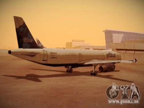 Airbus A321-232 jetBlue La vie en Blue für GTA San Andreas rechten Ansicht